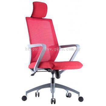 ANGLE - High Back Mesh Chair with Grey Nylon Base & Armrest (C1-BCMC-13-H)