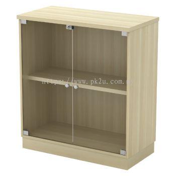 V1-SC-YG-9 - Glass Swinging Door Low Cabinet (910mm Height)