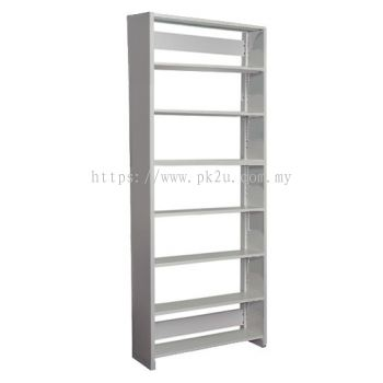 Single Sided Library Shelving With Steel End Panel - 7 Shelves (A1-SSLS-7L-SP)