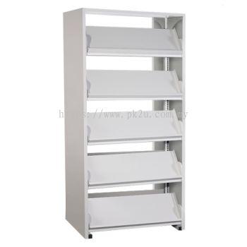 Double Sided Library Magazine Rack - 10 Shelves (G2-DSLM-5L-OP)