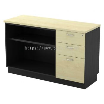 SC-YOP-7123 - Open Shelf + Fixed Pedestal 2D1F