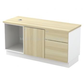 SC-YRP-1226E - Open Shelf + Swinging Door(R) + Fixed Pedestal 1D1F
