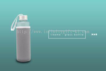 M49 LIKEME - Glass Bottle w/ Neoprene Pouch (500ml)