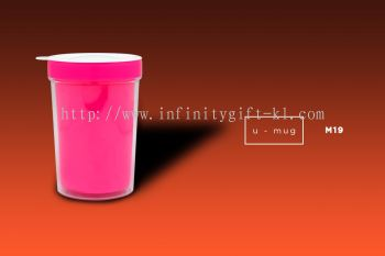 M19 U Mug - Double Wall Plastic Mug with Lid (532ml)