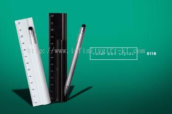 S116 3 in 1 Ruler Pen w/ Touch Screen Stylus