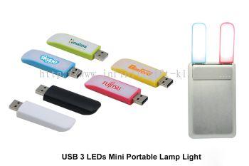 USB028 USB 3 LEDs Mini Portable Lamp Light