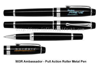 903R Ambassador - Pull Action Roller Metal Pen