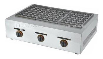 Fresco Takoyaki Gas Machine 3 plate FR-3.R , 28 Holes