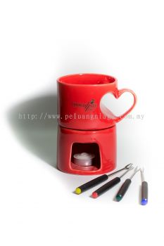 Chocolate Fondue Red Heart Cup Fondue