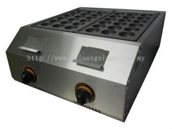 Takoyaki Machine Gas 2 plate, FR-1136.R 18 hole, Big hole (45mm) size