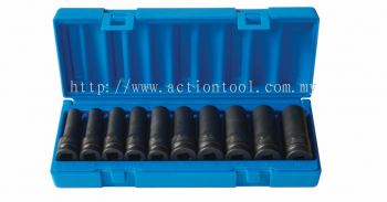 "10 Piece 1/2"" dr., 6-point Deep Impact Socket Set"