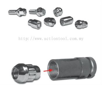 1/2'' Dr., Wheel Lug Nut Removing Sockets (Thin Wall Deep)