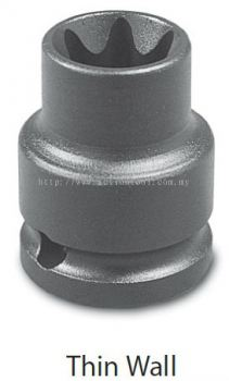 1/2'' Dr.,External Torx Impact Sockets (Thin Wall)