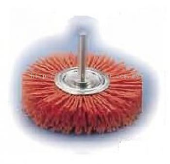 Abrasive Nylon Wheel Brushes with Shank (GIW)