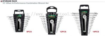 15 Offset Hi-Perform Combination Wrench Set