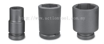 3/4¡¯¡¯Dr.,¡®¡¯METRIC¡¯¡¯ Deep Length Impact sockets (6-Point)
