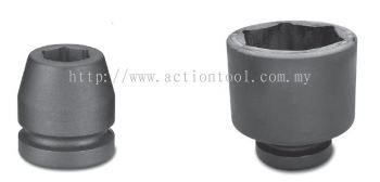 2-1/2''Dr.,''METRIC'' Standard Length Impact Socket (6-Point)