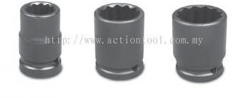 "3/8���� Dr.,""SAE���� Standard Length Impact Sockets (12-Point)"