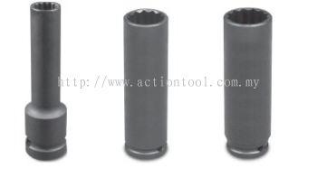 1/2����Dr.,����SAE���� Deep Length Impact Sockets (12-Point)