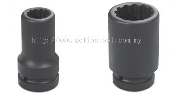 3/4¡¯¡¯Dr.,¡®¡¯METRIC¡¯¡¯ Deep Length Impact sockets (12-Point)