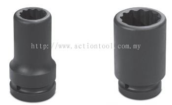 2-1/2'' Dr.,''SAE'' Standard Length Impact Sockets (12-Point)
