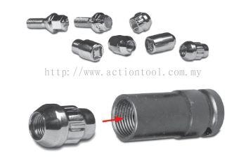 1/2���� Dr., Wheel Lug Nut Removing Sockets (Thin Wall Deep)