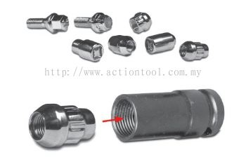 1/2'' Dr., Inside Hex Wheel Nut Remover Impact Sockets