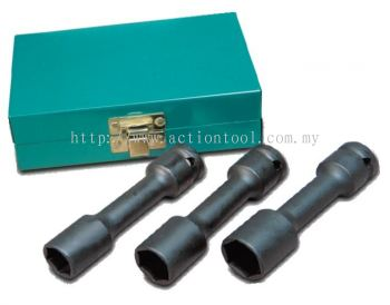 3 Piece 1/2�� dr., Wheel nut Impact Socket Set(6 point)