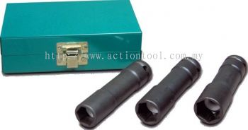 3 Piece 1/2¡± dr., Wheel nut Impact Socket Set(6 point)