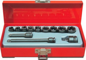 12 Piece 1/4�� dr., 6-Point Impact Socket Set