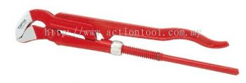 Pipe Wrench (45 Swedish model pipe wrench with S-shaped jaw)