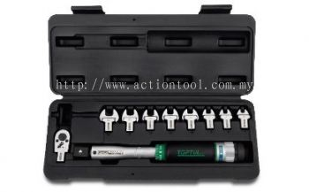 "3/8"" DR. Head-Interchangeable Spanner Torque Wrench Set"