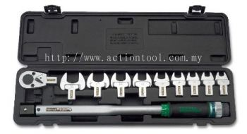 "1/2"" DR. Head-Interchangeable Spanner Torque Wrench Set"