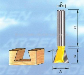 Two Flutes, 1/4 & 1/2 Shank (*solid carbide).
