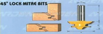 45 Degree Lock Mitre Bits (603)