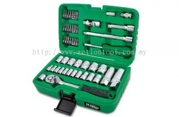 "1/4"" & 3/8"" DR. Flank Socket Set"