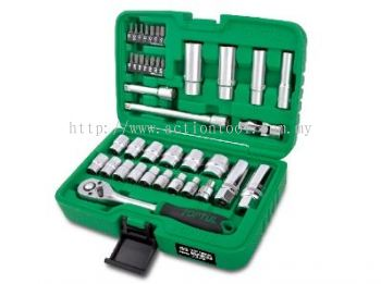 "3/8"" DR. Flank Socket Set"