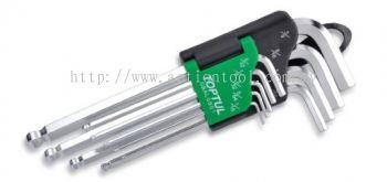 Long Type Ball Point Hex Key Wrench Set