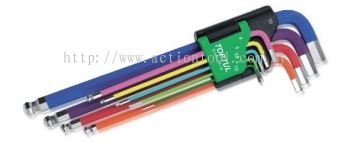 Color-Ring Extra Long Type Ball Point Hex Key Wrench Set