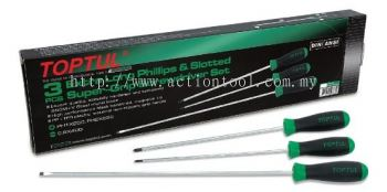 Extra Long Slotted & Phillips Super-Grip Screwdriver Set