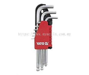 Yato YT-0506 1.5 - 10mm 9pcs Long Type Hex Key with Ball Point  [ Code:9501 ]
