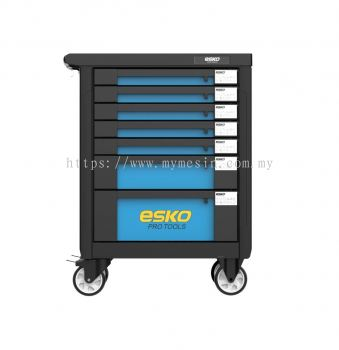 Esko 7 Drawer Cabinet With 212 Pcs Tools