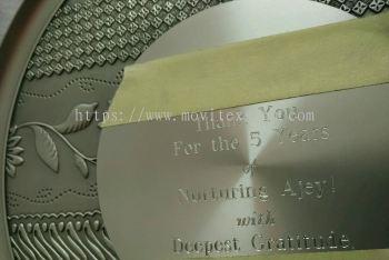 Pewter Engraving or pewter laser making (click for more detail)