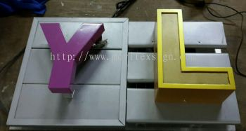 Aluminium Pannal Signboard Material GI Pannal strip board with 3D led box up lighting or LG pvc 3D cut out spary paint (click for more detail)