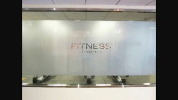 tinted glass for office, home or gerally with graphic printed or cutout hollow with many choice of sandblasted colour