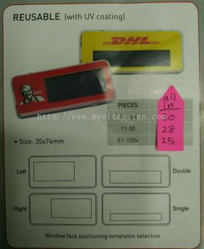 reusable name tag with logo self typing