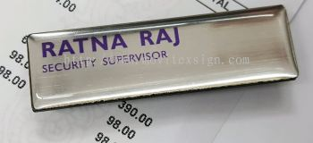 name tag with with or without epoxy coating ,u may hv Manectic hole or normal pin attach on