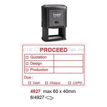 Production used Rubber Stamp 4927