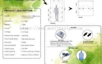 corona virus cabin box with nano water to remove away virus Cv19