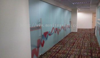 meeting  room tinted glass with graphics printing
